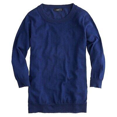 J Crew 46725 NWT Woman's Size XXXS Midnight Blue Merino Wool Tippi Sweater #29