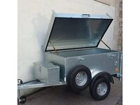 NEW GALVANISED CAMPING STYLE HINGED LID TRAILER WOULD ALSO SUIT HANDYMAN WITH TOOLS