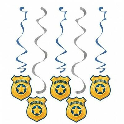 Police Party Hanging Dangler Decorations 5 Per Pack 30