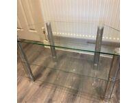 Matrix Glass Corner TV Unit - Clear & Chrome