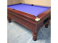 6x3 slate bed pub pool table recovered in purple speed cloth - Free Accessories & Local Delivery