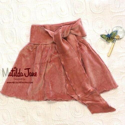 Matilda Jane Westside Sophia Pink Velour Skirt Vintage Size 4 EUC Free Shipping!