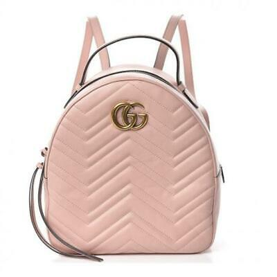 Gucci GG Marmont Matelasse Light Pink Calfskin Backpack