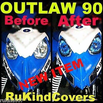 POLARIS PREDATOR 90 Outlaw 90 HEADLIGHT COVER'S BLUE EYE'S  NEW ITEM atv