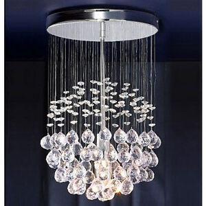 Modern Silver Chrome Acrylic Crystal Ceiling Pendant Light