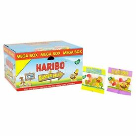 Haribo Easter Hunt Mega Box 800g, Approx 50 Mini Bags per Box