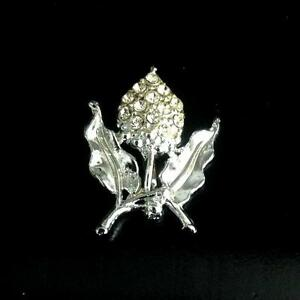 Women's Silver Flower Brooch