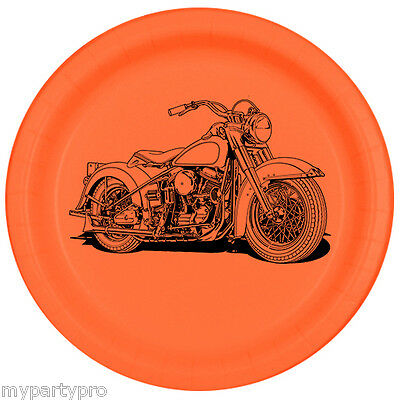 Motorcycle Birthday Party Supplies (HAWG MOTORCYCLE Paper Dessert Plate Birthday Party supplies free)