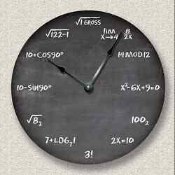 MATH Wall CLOCK - Chalkboard - Teacher Student Classroom - 7022_FTLLC