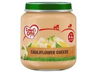 COW & GATE 125G-200G BABY FOOD JARS FROM 50P EACH (WHOLESALE ONLY) VARIOUS FLAVOURS AVAILABLE