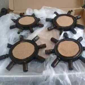 Ships wheel serving trays and coasters