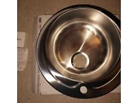 Cooke & Lewis Quimby Polished Inox Stainless Steel Bowl Sink