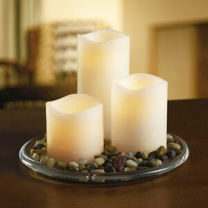 REAL WAX FLAMELESS LED  VOTIVE & PILLAR CANDLES HAS 4 HOUR TIMER