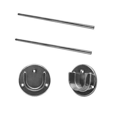 2 Pc 4 Ft Round Tubing Combo With 4 Pc U Flange Half Round Wall Flanges