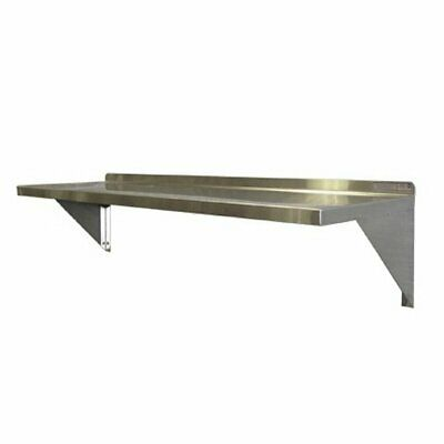 Stainless Steel Wall Mount Shelf - 12h 12d Lengths Of 24 36 48 60