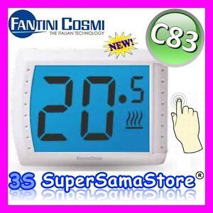 3s termostato ambiente touch screen digitale for Termostato fantini cosmi c31