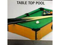 Table Top Pool Table - Brand New