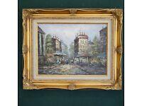 Fantastic original oil on canvas painting by Ron Ranson of a splendid Parisian scene framed