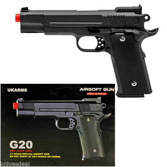 G20 350 FPS Full Metal M945 Replica Airsoft Spring Hand Gun Pistol