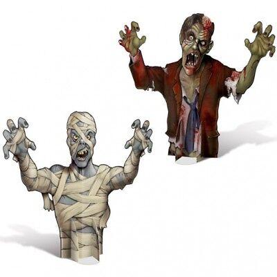 Mummy & Zombie 3-D Paper Centerpiece Set Zombie Halloween Party - Halloween Centerpiece Decorations