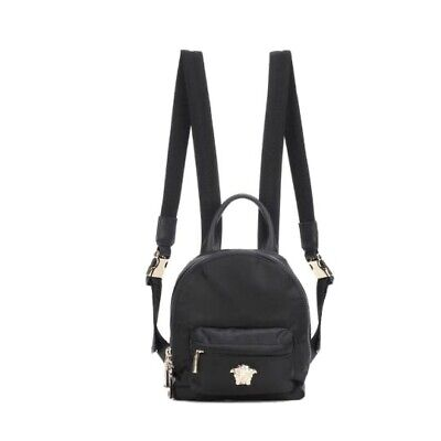 Versace Medusa Nylon Mini Black Backpack