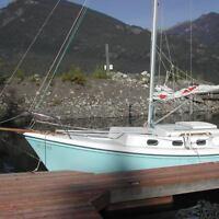 Cutter-rigged sailboat
