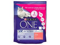Purina ONE Adult Cat Food Salmon & W/Grain