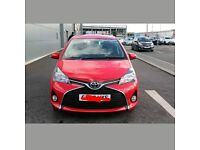 2015 15 TOYOTA YARIS ACTIVE VVTI 5 DOOR 1.0 LITE RED NEW SHAPE LATEST