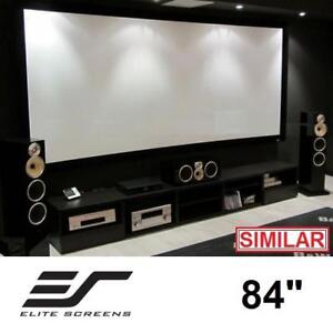 """NEW ELITE SCREENS 84"""" CURVED SCREEN CURVE84H-A1080P3 136852479 LUNETTE SERIES SOUND TRANSPARENT FIXED FRAME PROJECTIO..."""