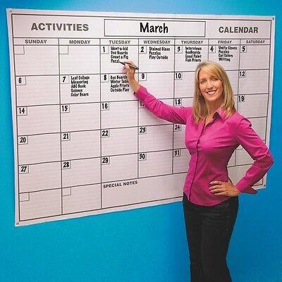 Laminated Jumbo Wall Calendar. Dry Erase Board Large Big Hanging Office Planner