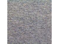 13 hardly used HEUGA grey carpet tiles 50x50 cms