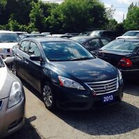 2013 Nissan Sentra FULLY CERTIFIED FE+S CVT BLUETOOTH LOW KM'S
