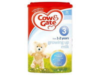 Cow And Gate 4 Growing Up Milk all stages