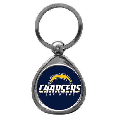 San Diego Chargers Chrome Metal Keychain (New) Team Logo Key Chain Jewelry NFL