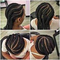 Box braid, crochet,TRESSE,Greffe,weave in more at good price