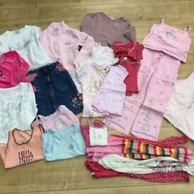 Bundle of girls' clothes, various brands incl Laura Ashley, Next, Disney, for 5-6 yrs, charity sale