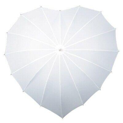 Herz Regenschirm Schirm in Herzform Hochzeitsschirm weiß Hochzeit Stockschirm