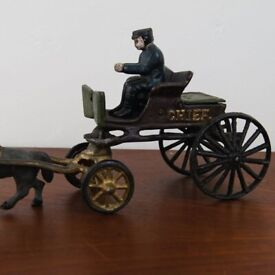 """We have a fantastic vintage cast iron """"Police Chief"""" toy in great condition"""
