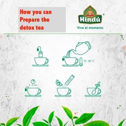 TEA INSTANT - All Natural Detox & Cleanse FLAT STOMACH METABOLISM BURN FAT BLEND 7