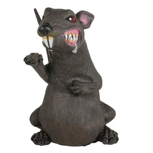 "Huge 11 inch Ferocious Rat Halloween Prop Decoration 7.5"" x 11"" x 7"" - NEW scary"