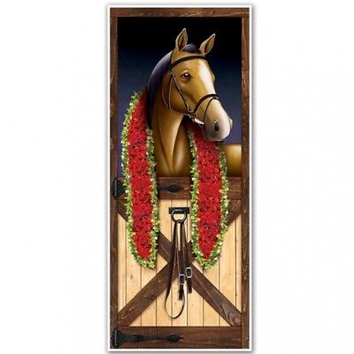 Horse Racing Door Cover Horse Racing Derby Party Supplies and Decorations - Race Party Supplies