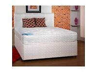 *BRAND NEW FACTORY SEALEDFree Local Delivery* DOUBLE BED DIVAN BASE4 ft 6 inch wide)+ Ortho Mattress