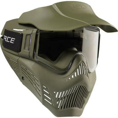 VForce Armor Mask Olive Drab - Single Clear Lens - -