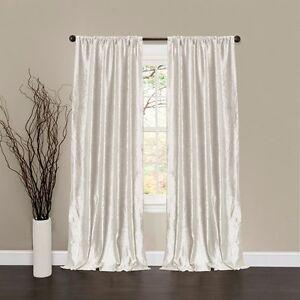 2 panel drapes velvet 60 x108 white window curtain