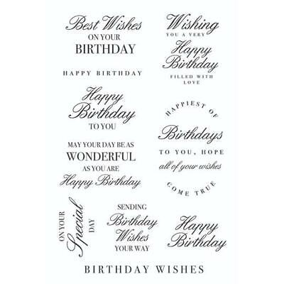 KaiserCraft Birthday Wishes Clear Stamp ~ Sentiments Birthday Special Wishes