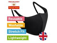 10 Pack Reusable Face Masks Washable breathable Coverings anti-dust in stock & free delivery