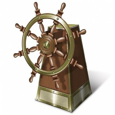 3-D Jointed Ship's Helm Centerpiece 18