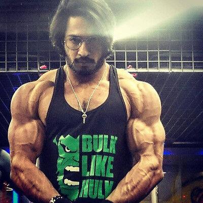 2018 Men's Hulk Summer Bodybuilding Cotton Stringer Fitness Muscle Tank Top Vest (Hulk Muscle T Shirt)