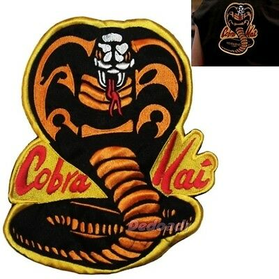 Karate Kid Replica Cobra Kai Suit Logo Embroidered Big Patch for Back Costume - Karate Costumes For Kids