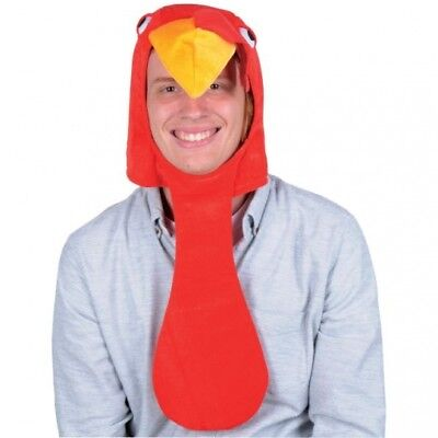 Plush Turkey Head Hat Adult Fall Autumn Thanksgiving Halloween Costume Prop  - Falling Head Costume